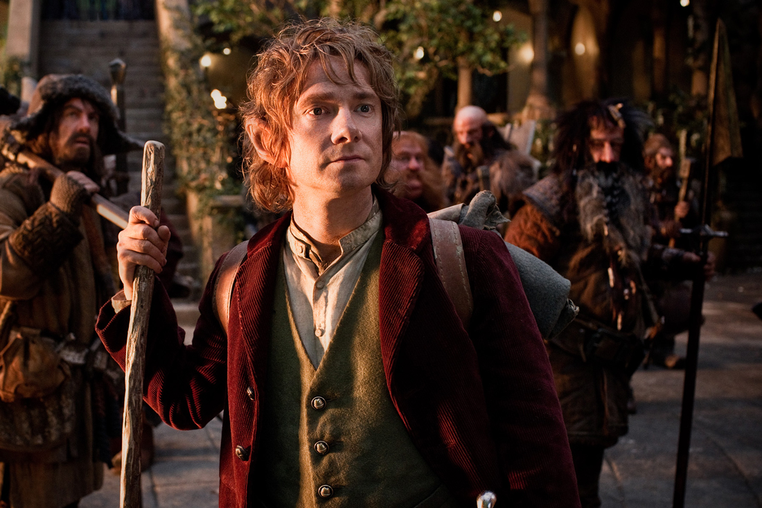 Martin Freeman leads a company of dwarves in The Hobbit: An Unexpected Journey.