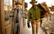 Christoph Waltz and Jamie Foxx ride the wild South in Django Unchained.