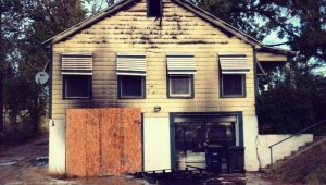 Around $8,500 in musical equipment was lost when this Near Southside garage apartment was set ablaze recently.