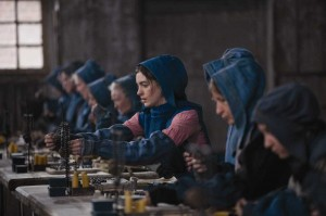 "Anne Hathaway (center) and other seamstresses find work in ""Les Misérables."""