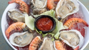 The raw oysters are firm and tasty at Texas Pit Oyster Bar. Chase Martinez
