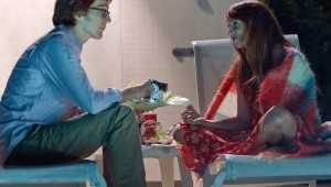 Paul Dano and Zoe Kazan sit poolside in the movie of the year, Ruby Sparks.