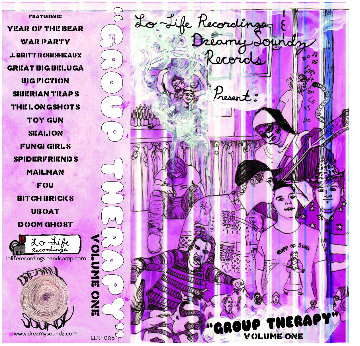 Fungi Girls, The Longshots, War Party, SpiderFriends, and Siberian Traps are just some of the local underground bands to contribute to the inaugural compilation album by Lo-Life Recordings and Dreamy Soundz Records, Group Therapy Vol. 1.