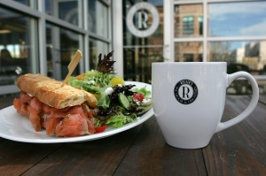 Ryan's has a smoked salmon sammy and house salad — and a cup of Joe — wih your name on it. Or, at least, their name. Lee Chastain