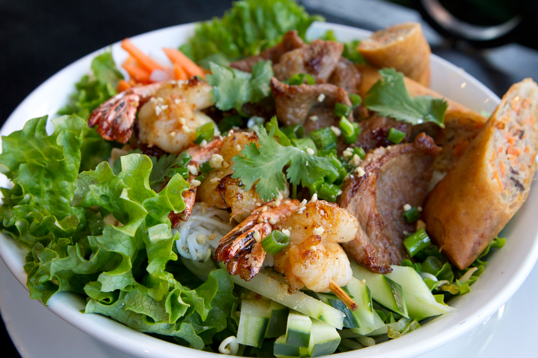 BFF mixes French/Vietnamese, sushi, and some Korean and Thai — the menu might actually be too big. Tony Robles