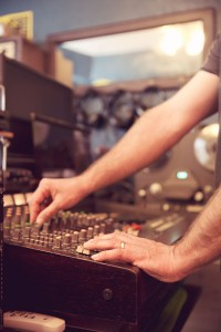 Robby Rux works an old TASCAM 388.