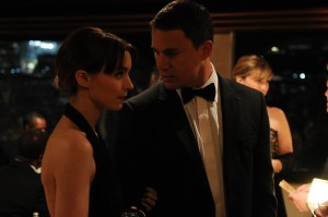 Rooney Mara tries to keep it together at a ritzy party with Channing Tatum in Side Effects.