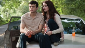 Alden Ehrenreich and Alice Englert cast a look at the road out of town in Beautiful Creatures.