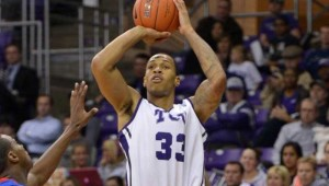 The TCU vs Kansas game tips off at 8pm at Daniel-Meyer Coliseum.