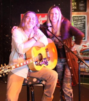 "EARL MUSICK AND ALLISON BALSON AT A RECENT ""MUSIC SCENE LIVE"" SHOW AT THE THIRSTY ARMADILLO (photo courtesy of Allison & Stone)"