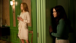 Nicole Kidman and the family secrets are spied on by Mia Wasikowska in Stoker.