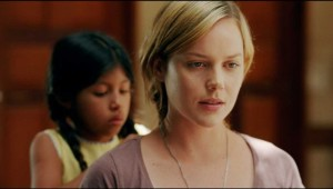 "Maritza Santiago Hernandez braids Abbie Cornish's hair in ""The Girl."""