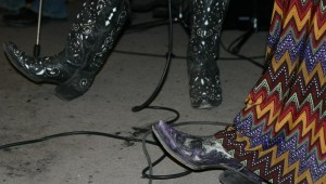 GREEN LIGHT PISTOL'S WOMANLY FOOTWEAR (all photos on this post by Jeff Prince)