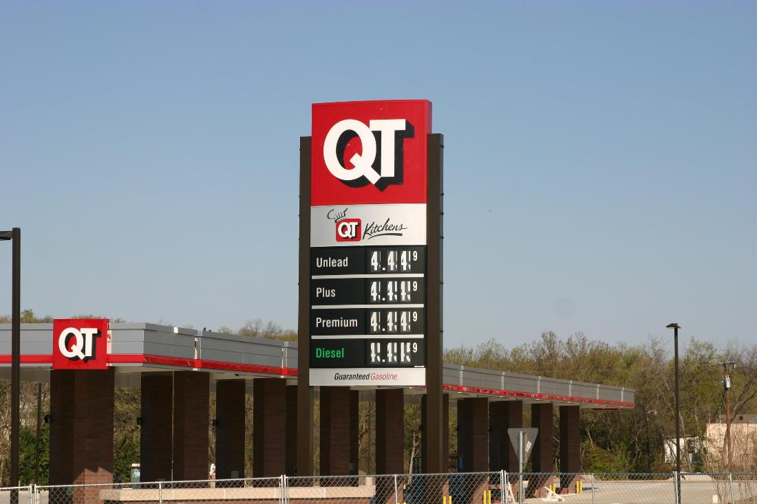 Qt S 4 44 Per Gallon Sign A Look Into Future Fort Worth Weekly