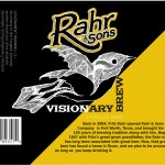 Joe Melgoza's winning 2013 Visionary Brew label. Photo by Lacie Lovelace.