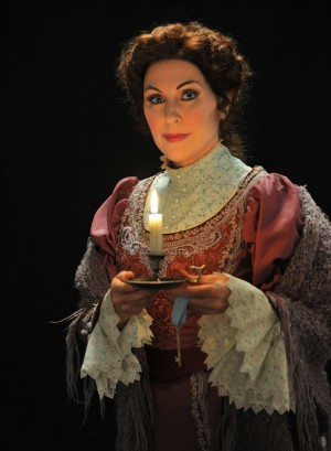 Mary Dunleavy stars as Mimi in Fort Worth Opera's production of La Bohème, opening 7:30pm Sat at Bass Hall.