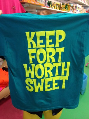 Snag one of these t-shirts from Miss Molly's Toy and Candy Shop, Sat.