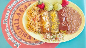 Enchiladas Olé is a contemporary take on traditional Tex-Mex. Adrien P. Maroney