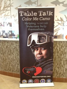 "Grace After Fire holds ""Table Talk"" sessions for women veterans around the state. Lily Casura"