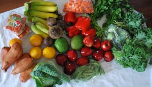 A Funky Farmz haul costs less than you'd pay at the supermarket, Birdsong said. Courtesy Crystal Ellis