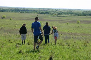Local youth get an introduction to a prairie. Jeff Prince