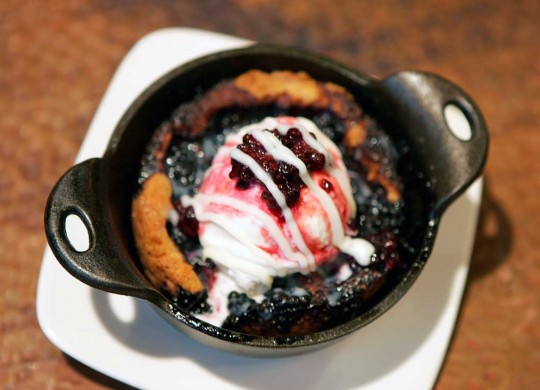 As this blackberry cobbler indicates, dessert at Copper Creek is a hit. Lee Chastain