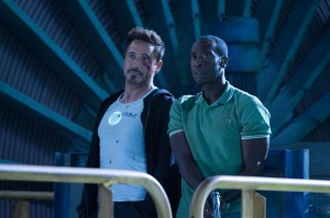 They're not Riggs and Murtaugh but Robert Downey Jr. and Don Cheadle catching bad guys in Iron Man 3.