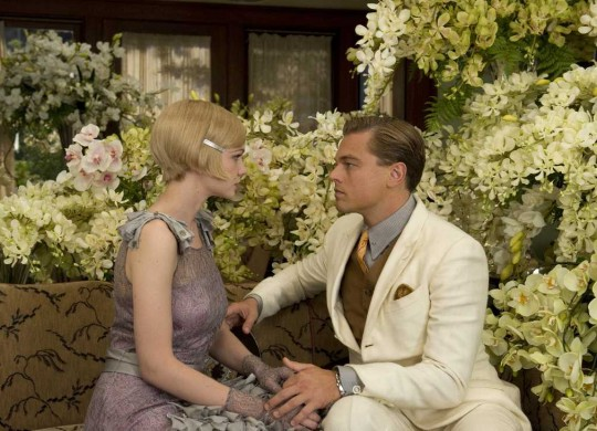 "An explosion of flowers frames Carey Mulligan and Leonardo DiCaprio's romance in ""The Great Gatsby."""