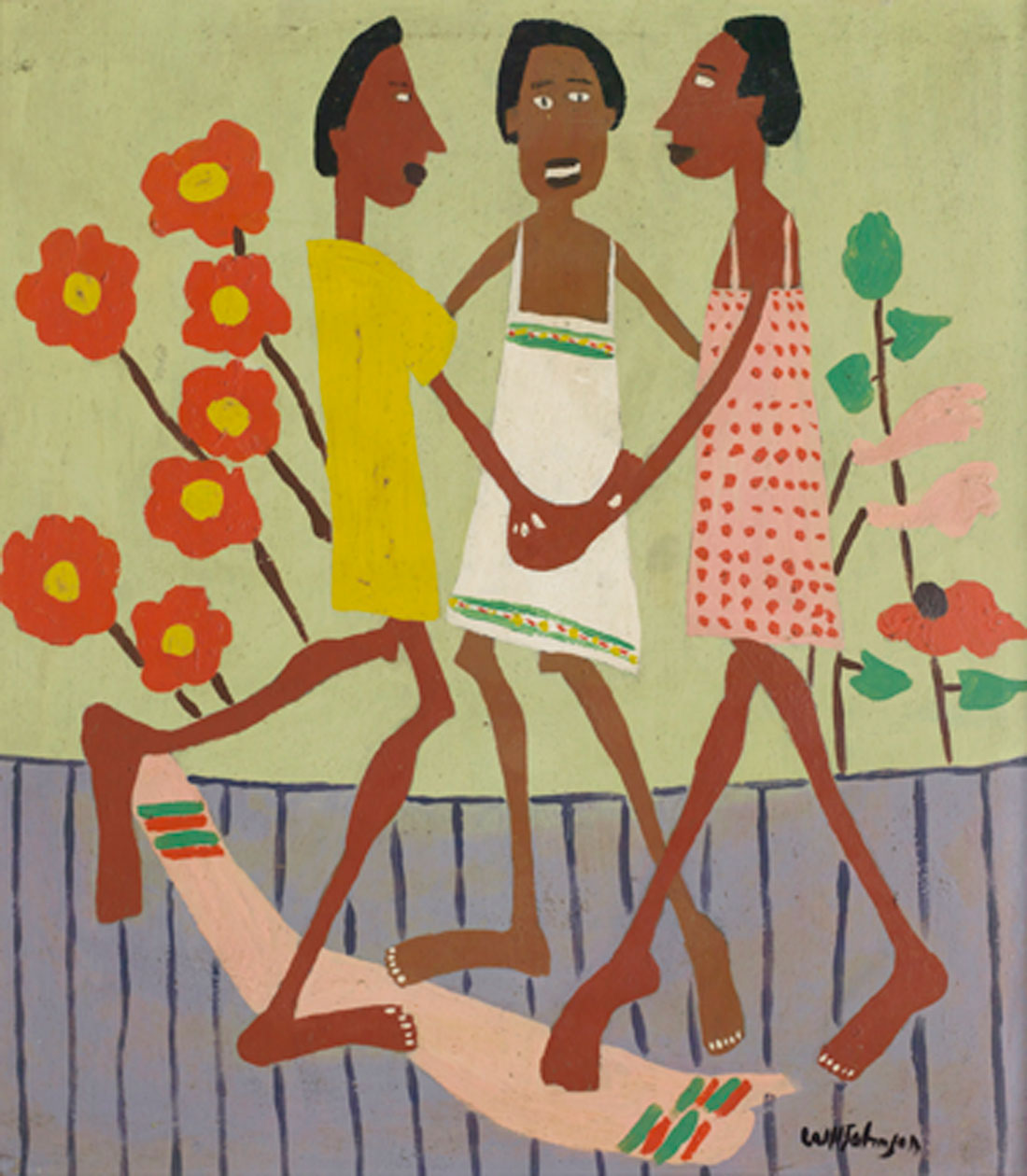 """Ring Around the Rosey"" is one of several Johnsons on exhibit now at The Arlington Museum of Art."