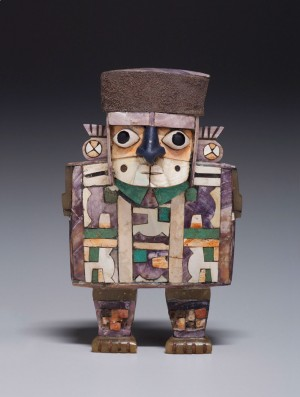 This cup-holding figurine is part of the Kimbell's Wari: Lords of the Ancient Andes.