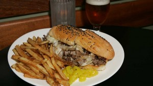 "The Live Oak's shaved rib-eye sandwich is ""terrific all around."" Lee Chastain"