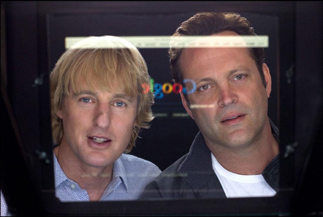 Where others see a default homepage, Owen Wilson and Vince Vaughn see an opportunity in The Internship.