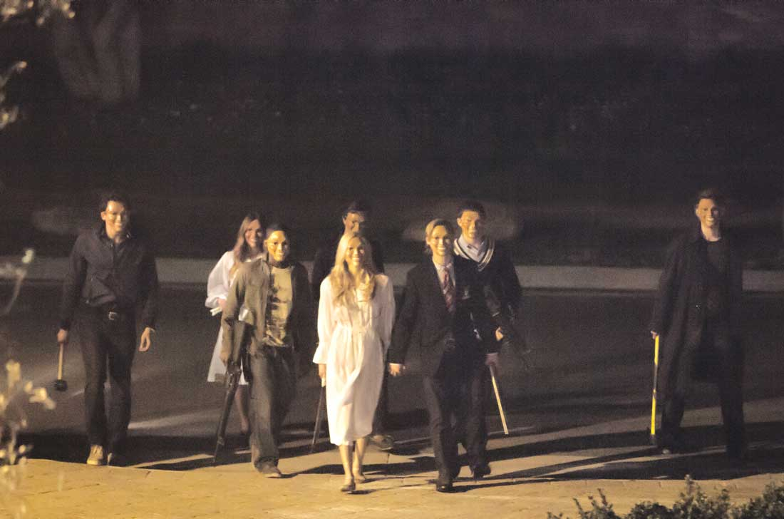 These aren't trick-or-treaters coming to your house in The Purge.