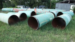 Eight-foot sections of the pipeline are being removed from many properties near Winnsboro. Steven DaSilva