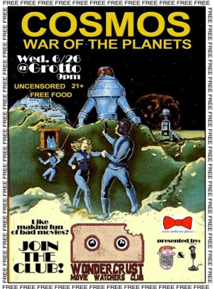 War of the Planets screens tonight at 10pm at The Grotto.