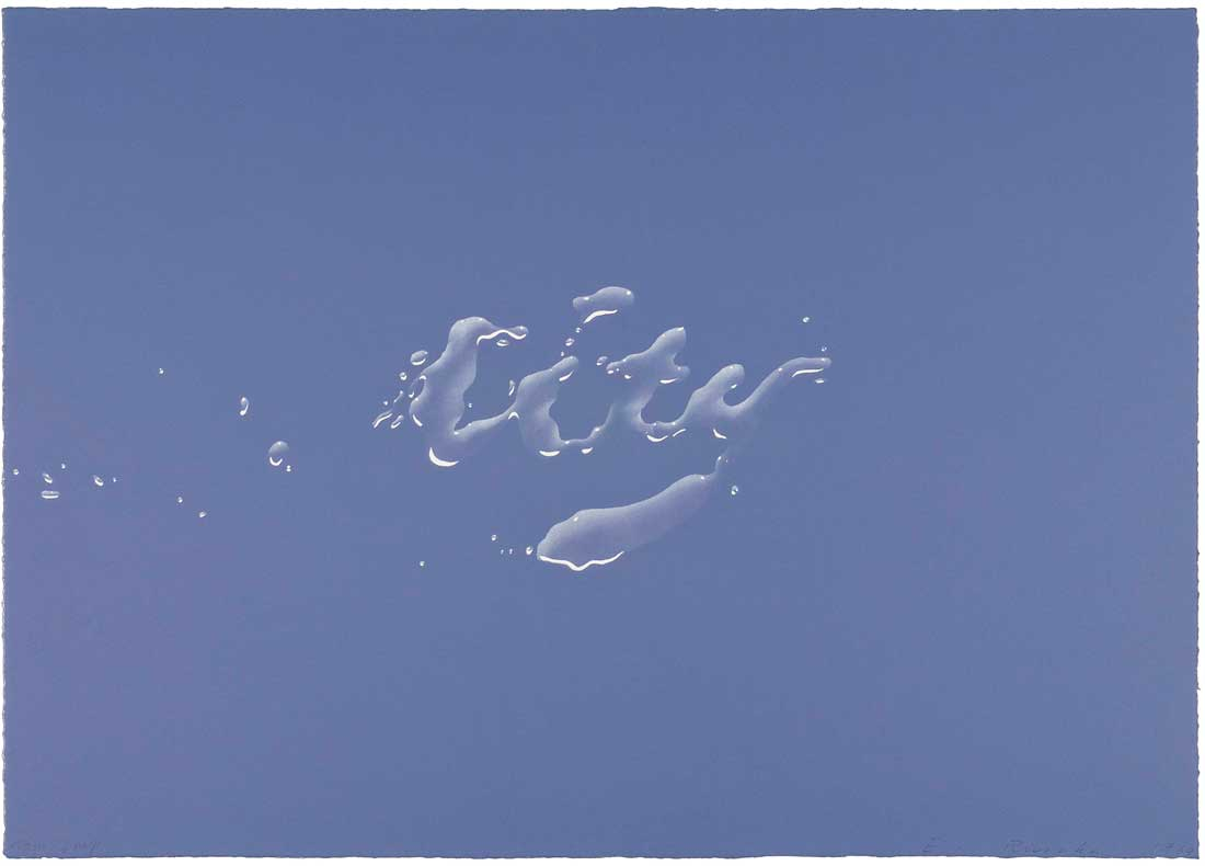 "Ed Ruscha's ""City"" at the Amon Carter Museum."