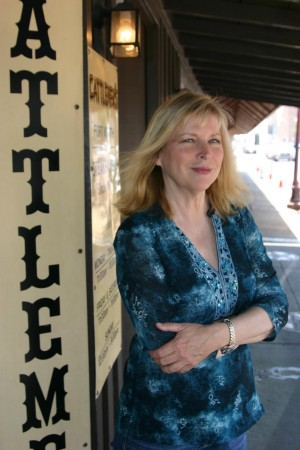 CANDY CLARK OUTSIDE OF HER FAVORITE FORT WORTH RESTAURANT, CATTLEMEN'S IN THE STOCKYARDS. (photo by jeff prince)