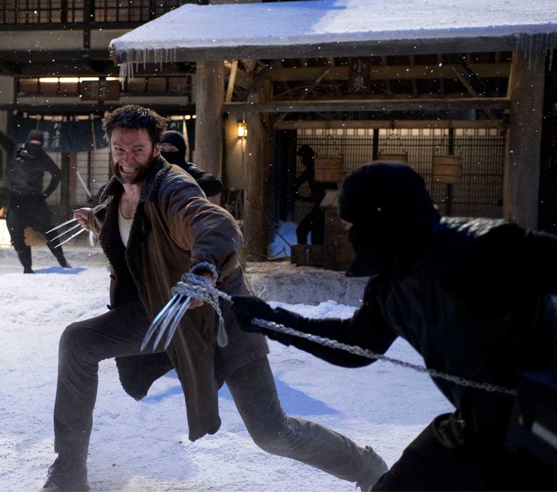 Hugh Jackman battles Japanese ninja warriors in The Wolverine.