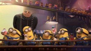 Gru tries to get his minions back to work in Despicable Me 2.