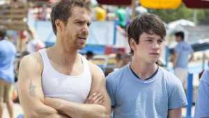 Sam Rockwell and Liam James ponder the next stage of life at an oceanside water park in The Way, Way Back.
