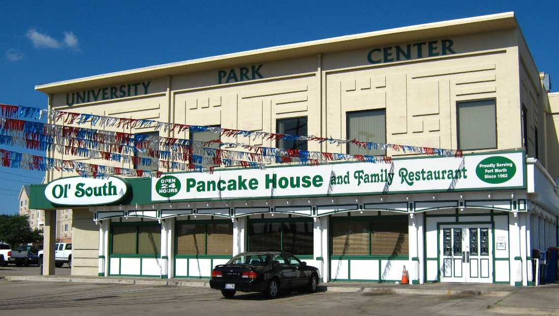 Ol' South Pancake House, 1509 S University Dr, FW. 817-336-0311.