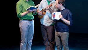 Luke Longacre, Brandon J. Murphy, and Scott Zenreich are an unholy yet hilarious trio in Amphibian's current production.