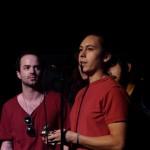 Skeleton Coast accepts their Panthy for best indie-rock album.