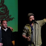 Tripp Mathis and company accept their Panthy for best acoustic/folk.