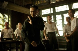 Tony Leung demonstrates his martial arts style for a crowd of future disciples in The Grandmaster.
