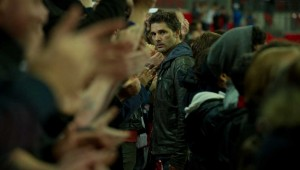 Eric Bana arranges a clandestine rendezvous at a crowded Wembley Stadium in Closed Circuit.