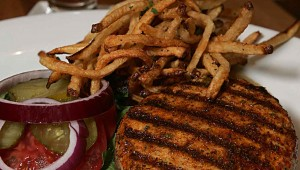 Pacific Table's recent sandwich of the day was the tuna burger with garlic rosemary fries. Lee Chastain