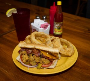 Allie's shrimp po-boy is outstanding and filling. And cheap. Brian Hutson