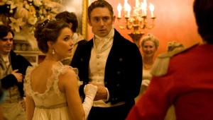 "Keri Russell and JJ Feild dance a minuet in a drawing room that's not in 19th-century England in ""Austenland."""