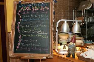 A little of each, s'il vous plait. Potager's menu changes daily. Lee Chastain